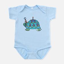 Blue Birthday Turtle Infant Bodysuit