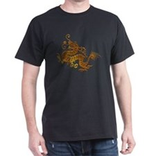 Chinese Decorative Gold Dragon T-Shirt