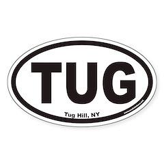 Tug Hill New York TUG Euro Oval Decal