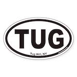 Tug Hill New York TUG Euro Oval Sticker
