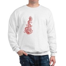 Chinese Red Dragon Graphic Sweatshirt