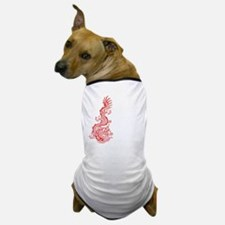 Chinese Red Dragon Graphic Dog T-Shirt