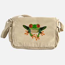 Colorful Tree Frog Messenger Bag