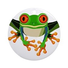 Colorful Tree Frog Ornament (Round)