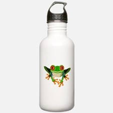 Colorful Tree Frog Water Bottle