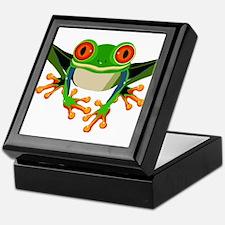 Colorful Tree Frog Keepsake Box
