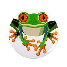"""Colorful Tree Frog 3.5"""" Button"""