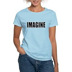 IMAGINE in Bold Black Letters T-Shirt