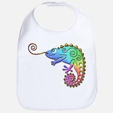 Cool Colored Chameleon Bib