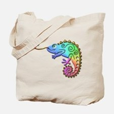 Cool Colored Chameleon Tote Bag