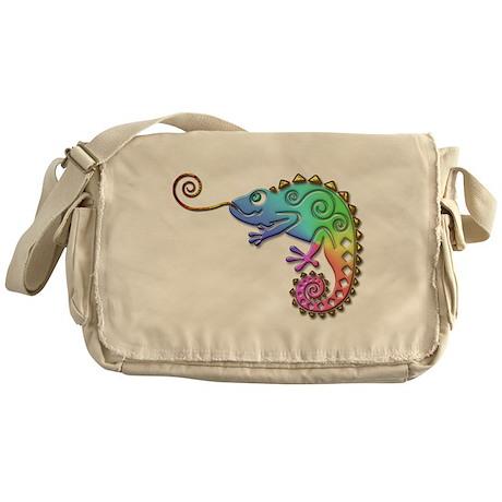 Cool Colored Chameleon Messenger Bag