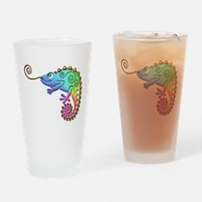 Cool Colored Chameleon Drinking Glass