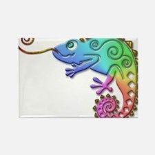 Cool Colored Chameleon Rectangle Magnet