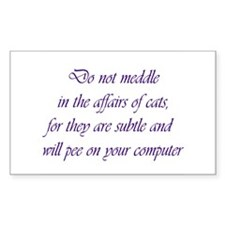 Do not meddle Rectangle Decal