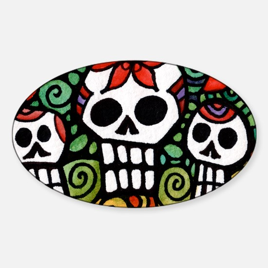 Day of the Dead Floral Sugar Skulls Decal