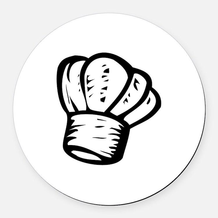 Chef Round Car Magnet