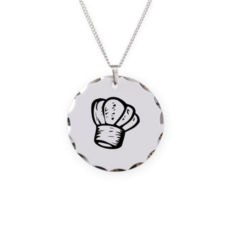 chef necklace circle charm by graphicdream