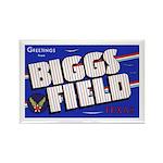 Biggs Field Texas Rectangle Magnet