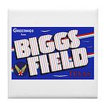 Biggs Field Texas Tile Coaster