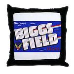 Biggs Field Texas Throw Pillow