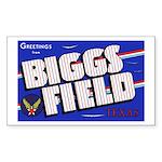 Biggs Field Texas Rectangle Sticker