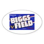 Biggs Field Texas Oval Sticker