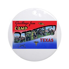 Camp Barkeley Texas Ornament (Round)