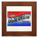 Camp Barkeley Texas Framed Tile
