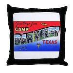 Camp Barkeley Texas Throw Pillow