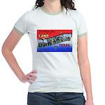 Camp Barkeley Texas (Front) Jr. Ringer T-Shirt