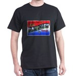 Camp Barkeley Texas (Front) Black T-Shirt