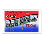 Camp Barkeley Texas Rectangle Sticker