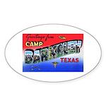 Camp Barkeley Texas Oval Sticker