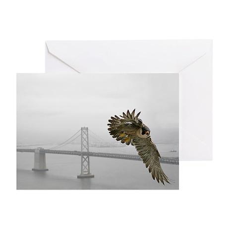 """Gracie and Bay Bridge"" Greeting Cards (Pk of 10)"