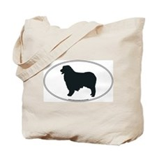 Australian Shepherd Silhouette Tote Bag