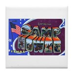 Camp Howze Texas Tile Coaster