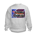 Camp Howze Texas (Front) Kids Sweatshirt