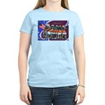 Camp Howze Texas (Front) Women's Pink T-Shirt