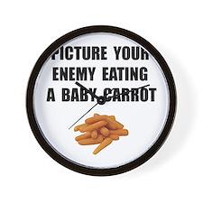 Enemy Carrot Wall Clock