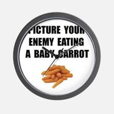 Enemy Carrot Wall Clock