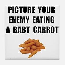 Enemy Carrot Tile Coaster