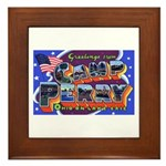 Camp Perry Ohio Framed Tile