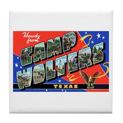 Camp Wolters Texas Tile Coaster