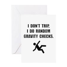 Gravity Checks Greeting Card