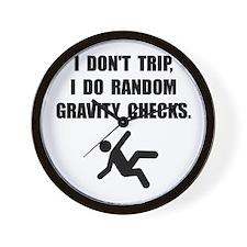 Gravity Checks Wall Clock