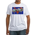 Camp Swift Texas (Front) Fitted T-Shirt
