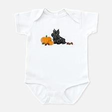 Scottish Terrier Halloween Infant Creeper