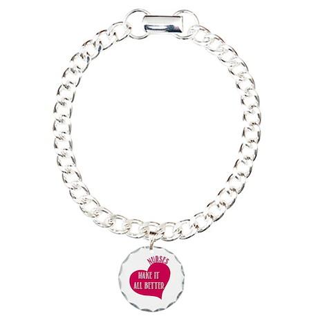 Nurses make it All Better Charm Bracelet, One Char