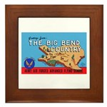 Army Air Forces Flying School Framed Tile