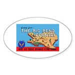Army Air Forces Flying School Oval Sticker